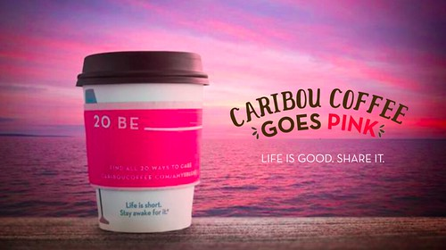 Caribou Coffee Goes Pink