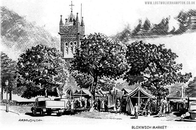Bloxwich Market circa 1948