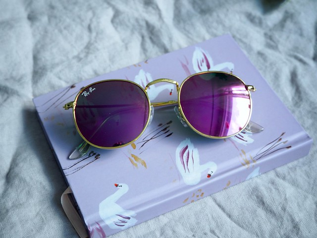 P9045579pinkraybanroundmetalsunglasses, ray-ban round metal pink sunglasses pink, gold frames, pink mirrored lens, kultaiset kehykset, pinkit peililinssit, new favorites, pink details, asusteet, inspiration, accessories, fashion, muoti, shopping, ostokset, ndc, nunuco design company, swan lake notebook, joutsenlampi muistikirja,