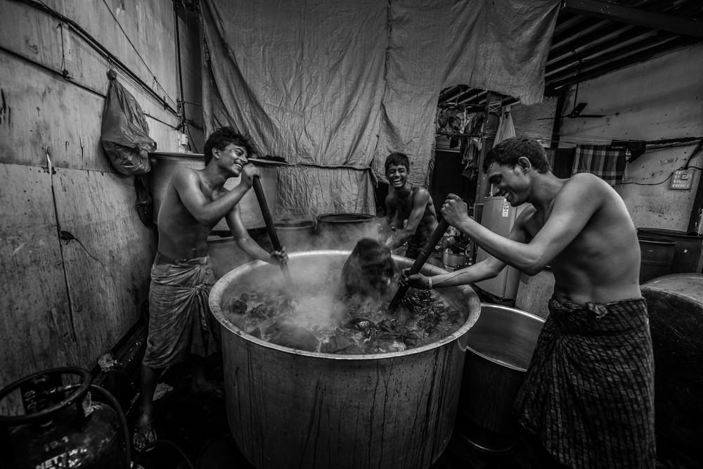 RP0101 RP0901 MONCHO (India) - La gran lavanderia de Mumbai (1 de 6) - Tomada en Dhobi Ghat - Mumbai el 271115