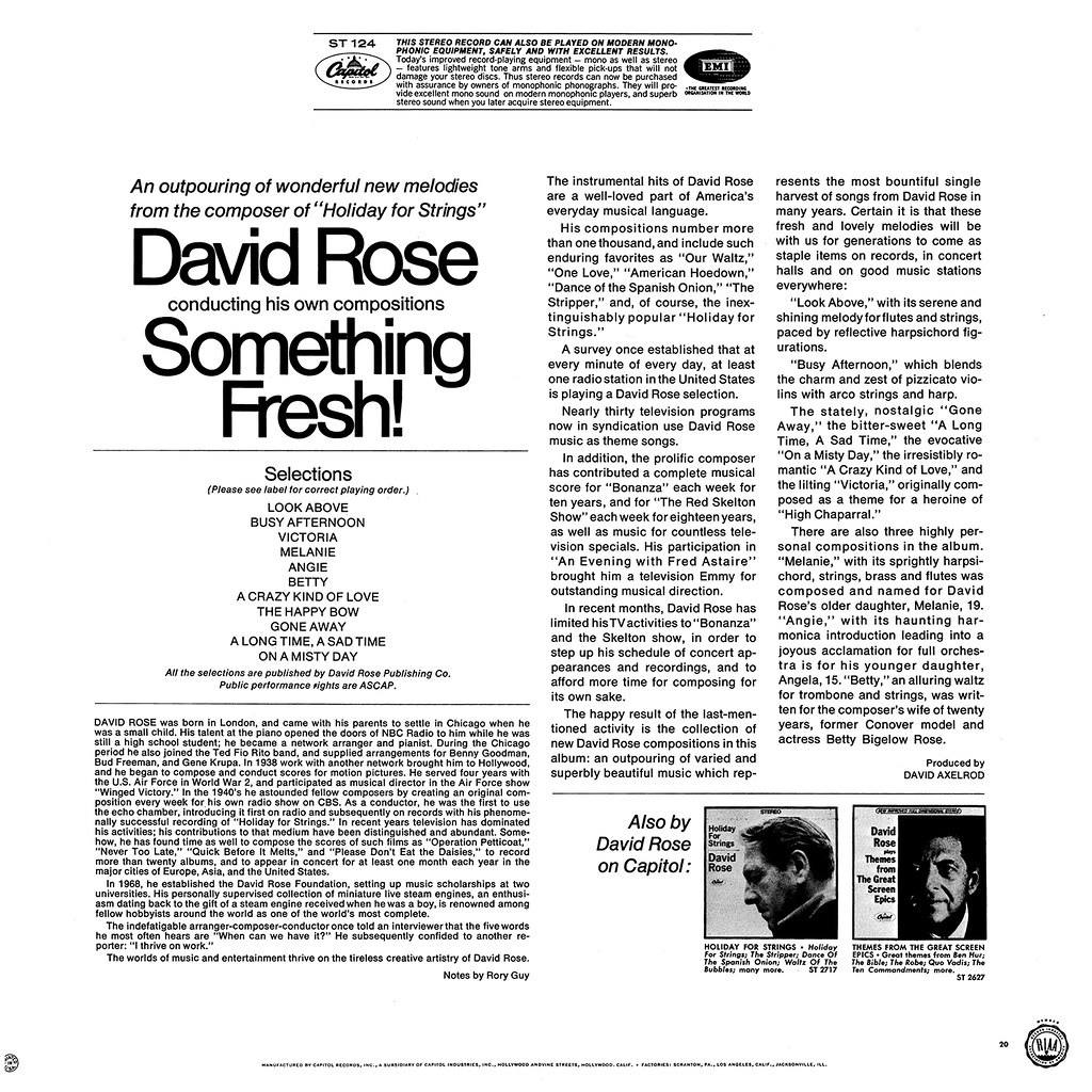 David Rose - Something Fresh