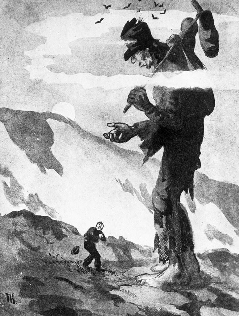 Theodor Kittelsen - Little Fred and the Giant Beggar