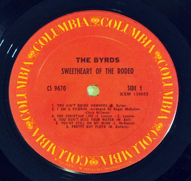 "BYRDS Sweetheart of the Rodeo 6-Eyes ringarounds 1st USA pressing 12"" LP VINYL"