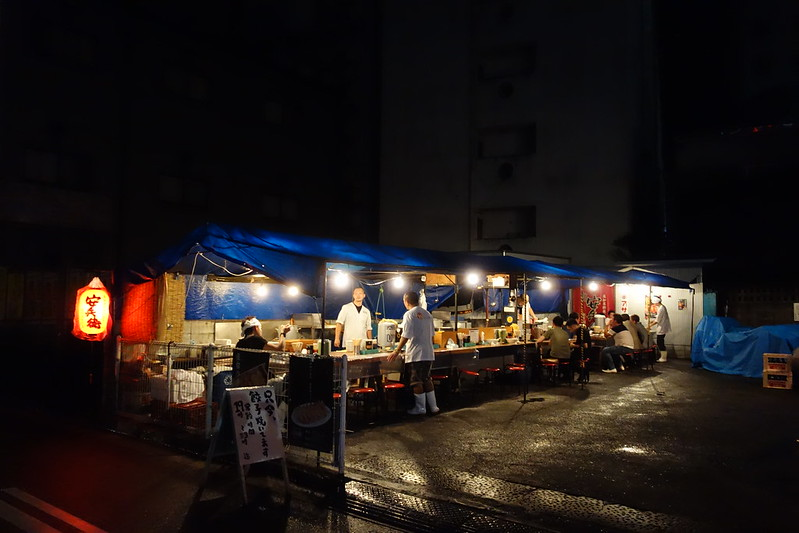 深夜、高知の屋台にて midnight at street stall , Kouchi Japan