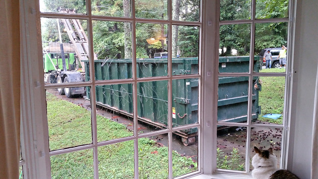 The dumpster arrives!