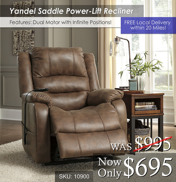 Yandel Saddle Power Lift Recliner 10900
