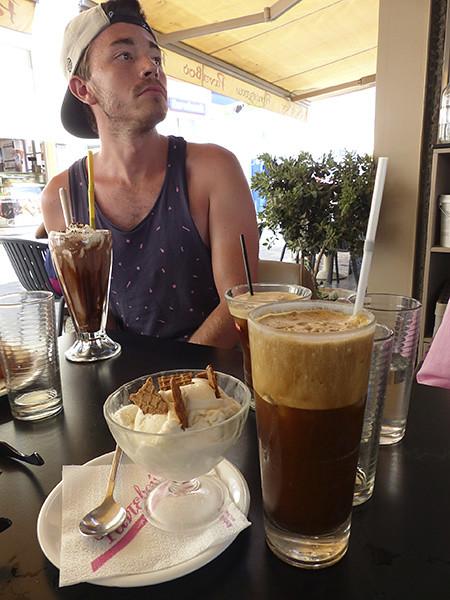 glace et café frappé