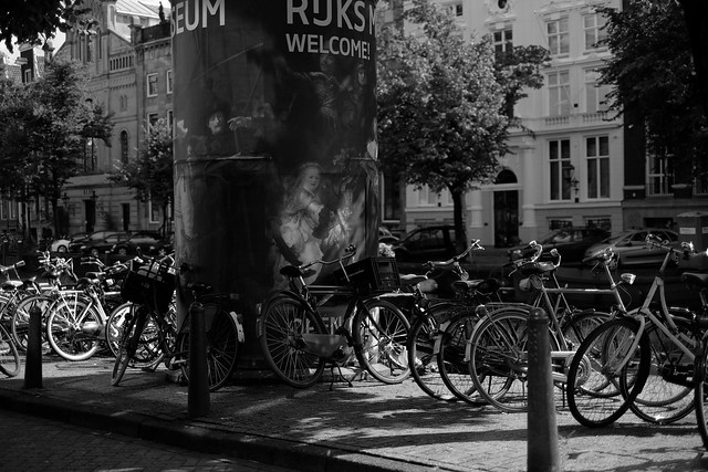 Bike at canal in Amsterdam 3
