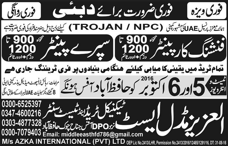 Carpenter-UAE-Job