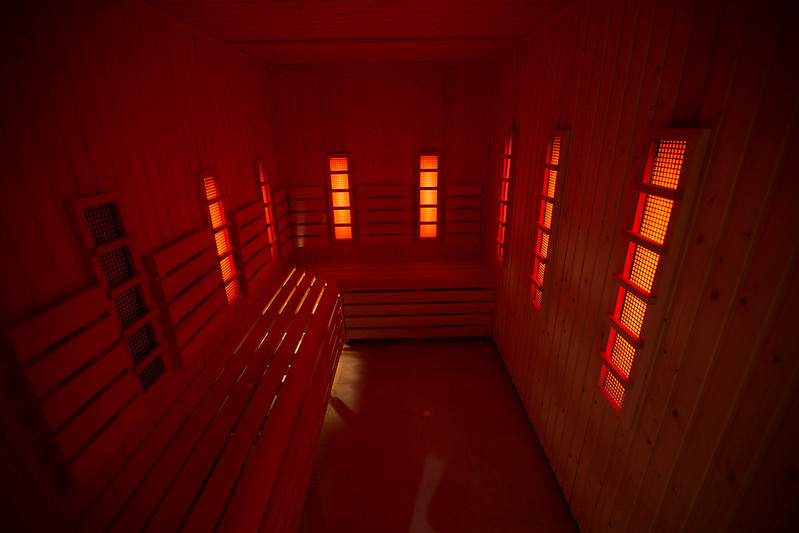 Infra-red sauna.