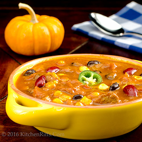 Pumpking and Pork Chili