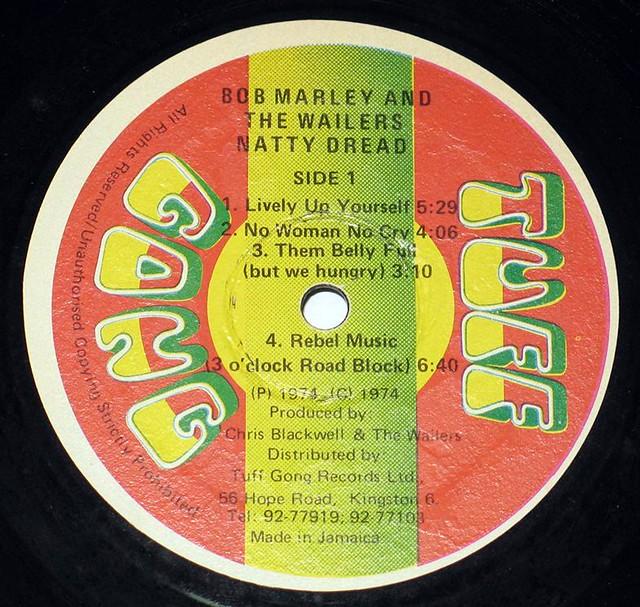BOB MARLEY THE WAILERS NATTY DREAD TUFF GONG