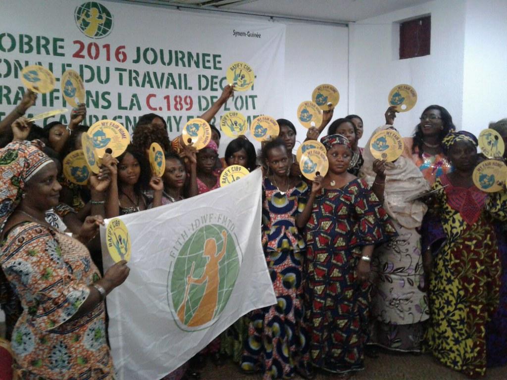 2016-10-7 Guinea: SYNEM Celebration of the World Day for Decent Work