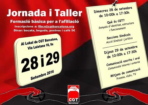 Jornada/taller formació CGT Barcelona