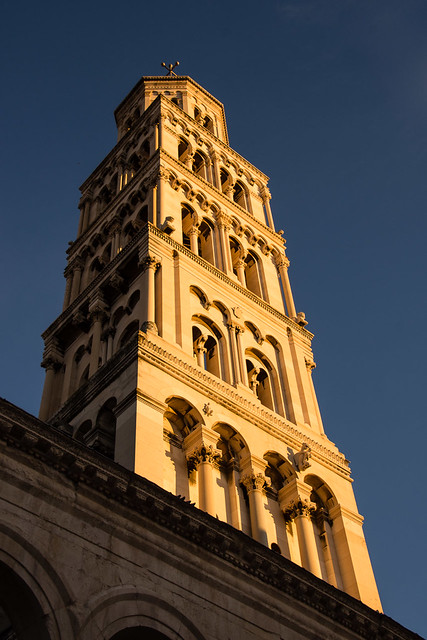 tower in evening light