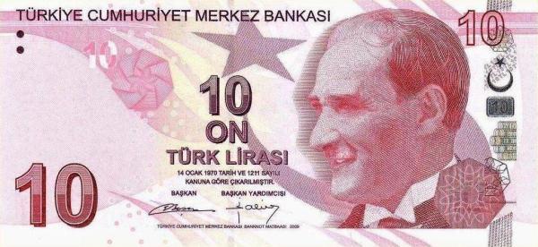 10 lír Turecko 2013, P223b