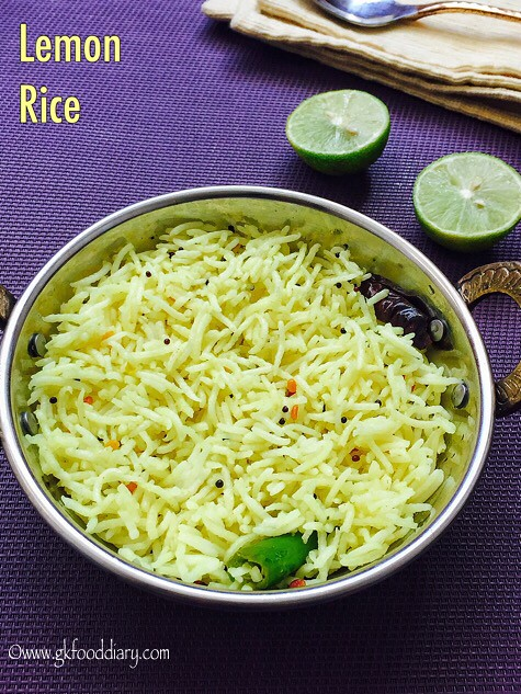Lemon Rice Recipe for Toddlers and Kids3