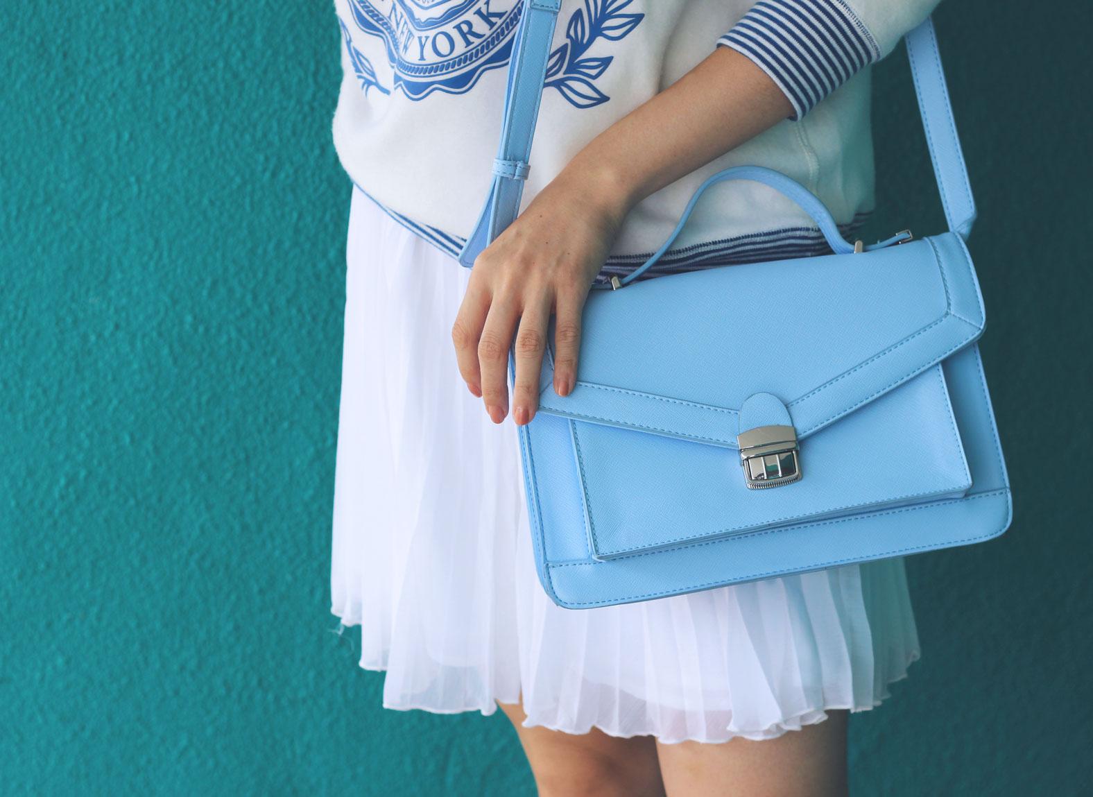 Light blue satchel