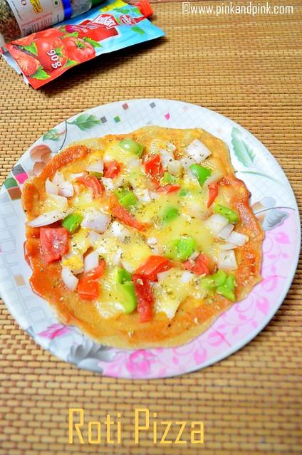 Roti pizza recipe
