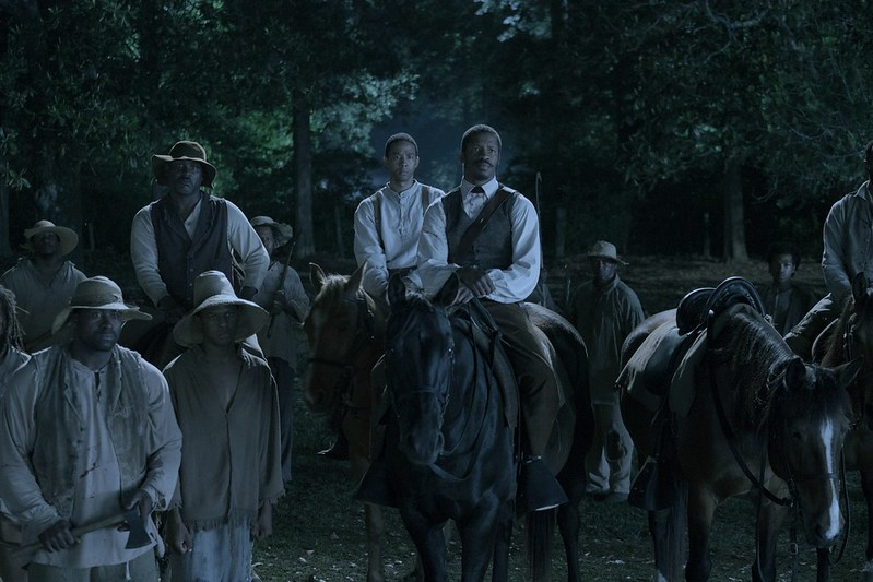 Nate Parker (center) leads a slave rebellion in THE BIRTH OF A NATION.