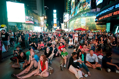 Mars Curiosity Rover Landing Broadcast at Times Square, Earth | by navid j