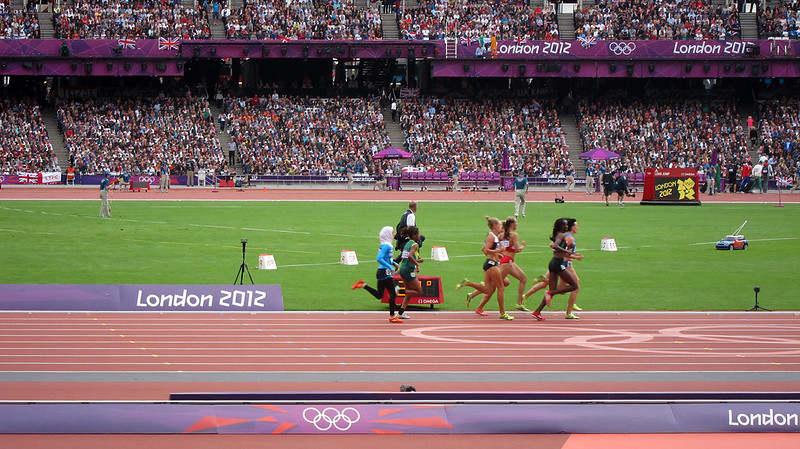 palestinian athlete Woroud Sawalha 800m heats