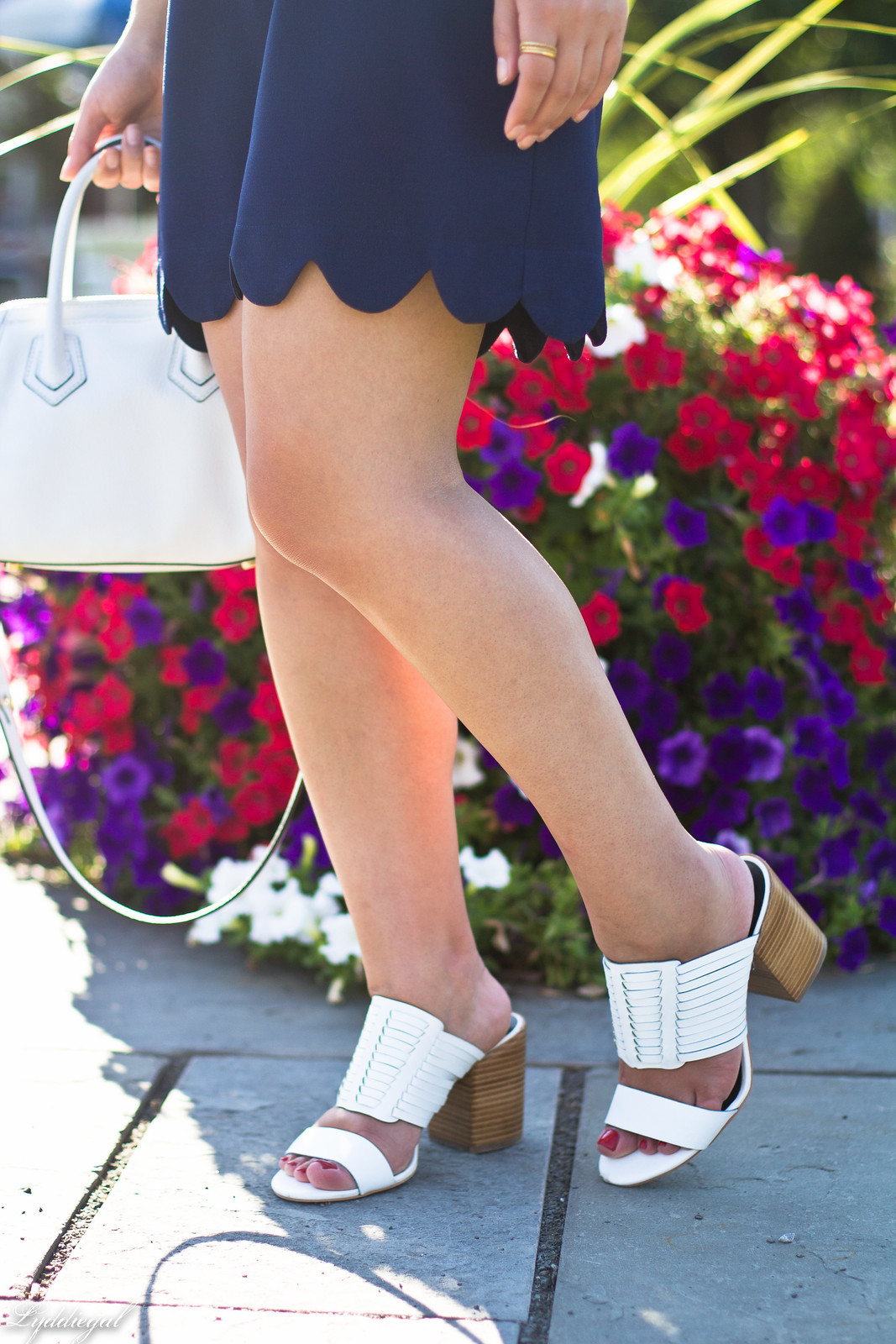 navy scalloped dress, rebecca minkoff bag and sandals-9.jpg