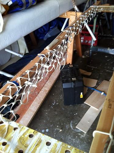 net outrigger trampoline in progress