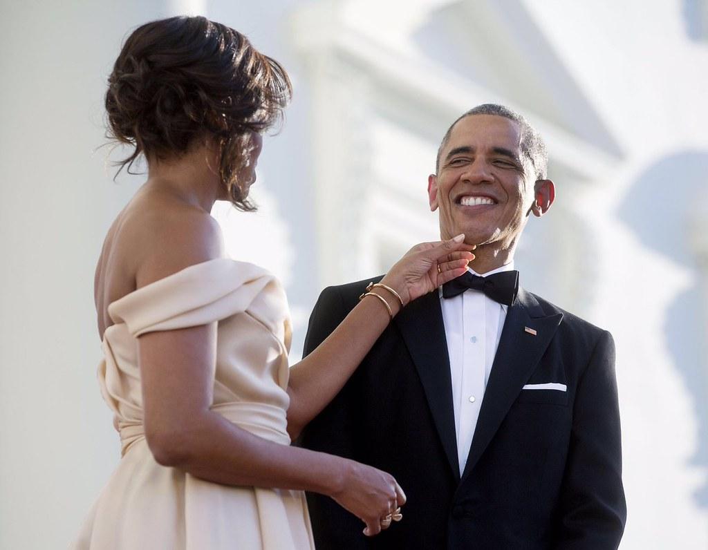 Michelle celebrates Barrack