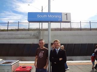 Daniel Bowen and Darren Peters at the South Morang station open day | by Daniel Bowen
