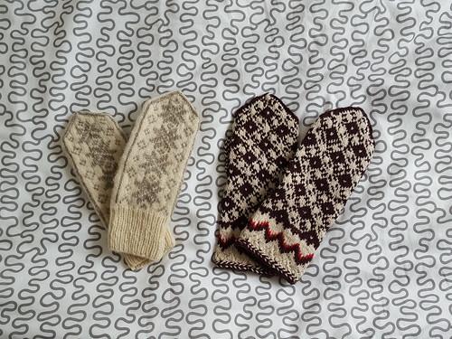 Gants estoniens au tricot