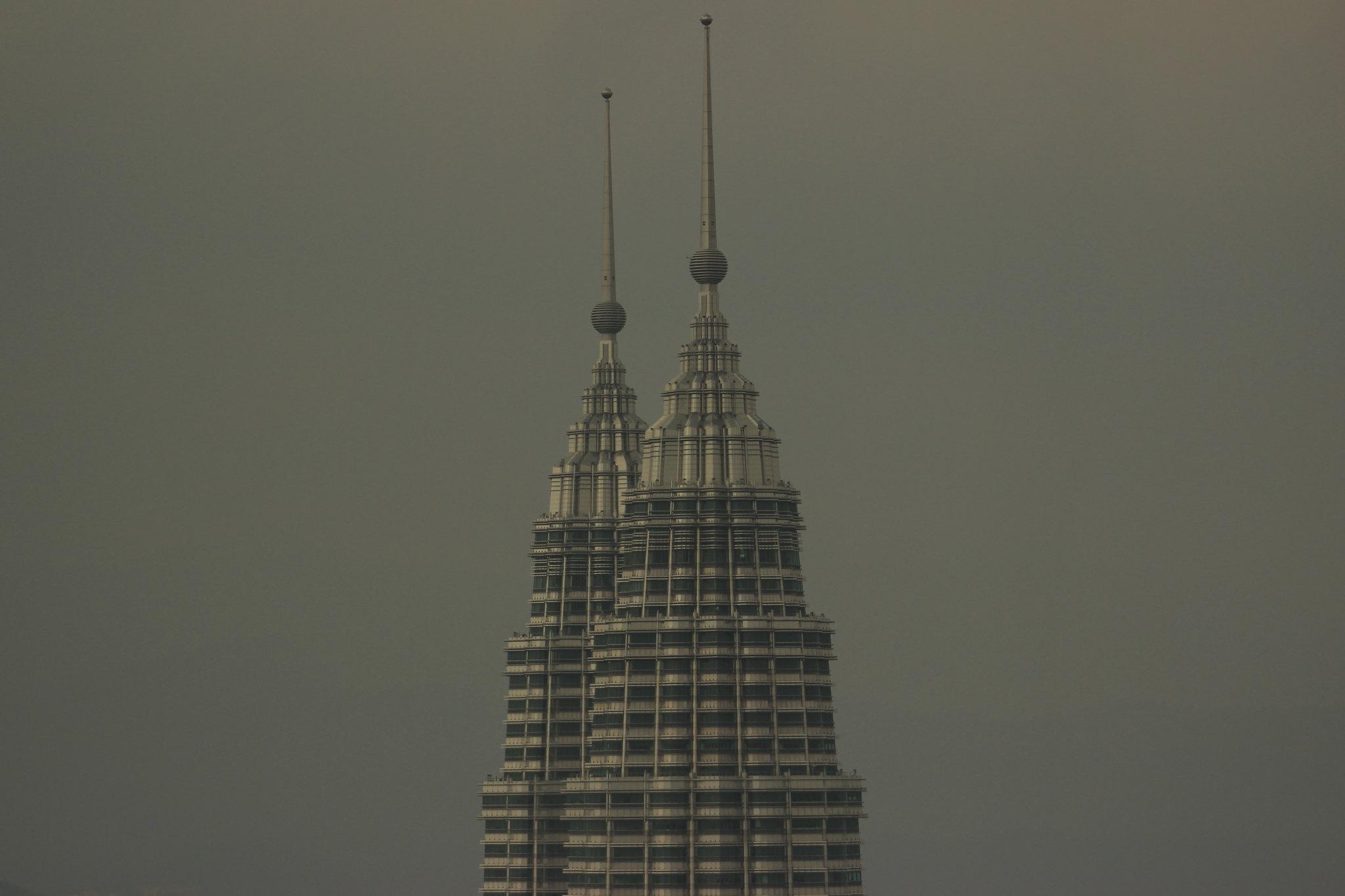 Petronas blending with the sky