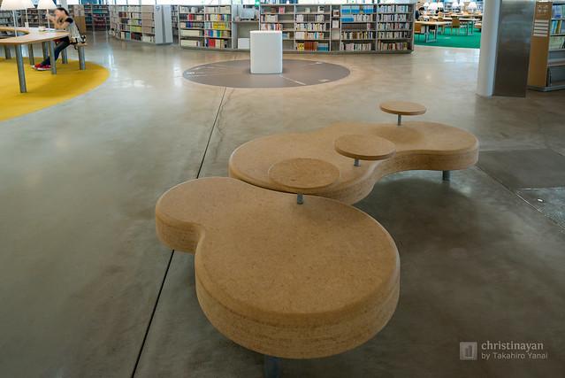 A furniture in Gifu Media Cosmos (ぎふメディアコスモス)