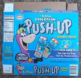 1994 Hanna-Barbera Nestle Flintstones Cool Cream Push-Up Sherbet Treats Ice Cream | by gregg_koenig