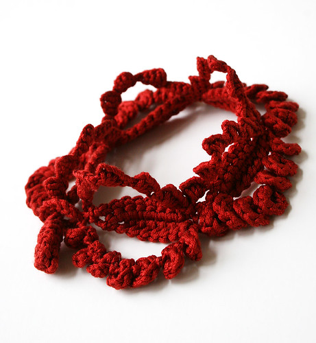 Crochet Lace Bracelet / Silk / Fiber Jewelry | by Elena Rosenberg Wearable Fiber Art