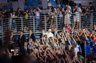 31.07.2016 Spotkanie Papieża z wolontariuszami// Meeting - Pope with Volunteers