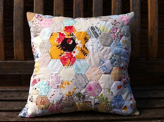Hexagon cushion finished | by Fiona @ Poppy Makes