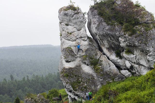 Skałki wspinaczkowe - Mirów, Poland