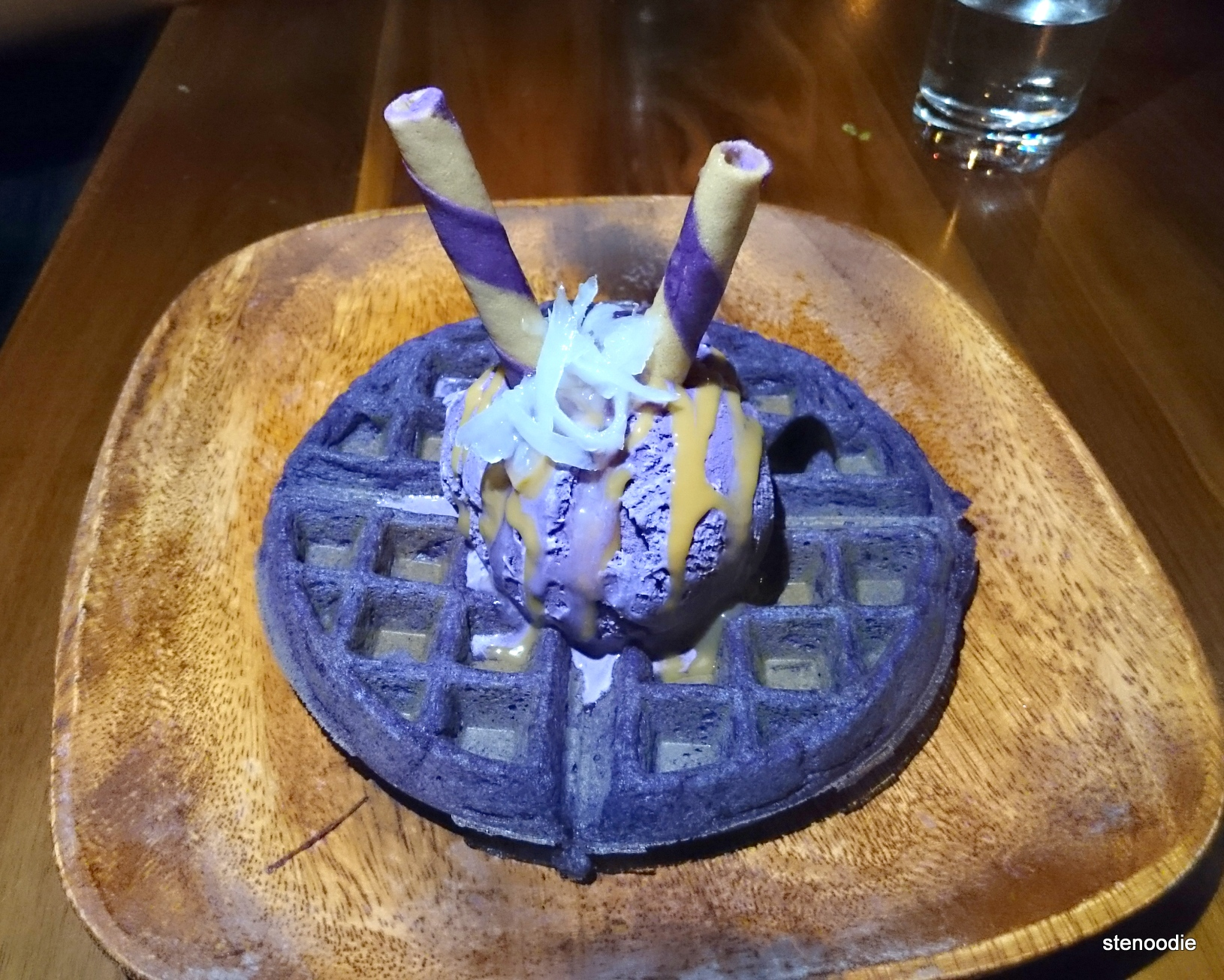 Waffle and Ice Cream Macapuno