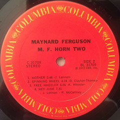MAYNARD FERGUSON:M.F. HORN TWO(LABEL SIDE-B)