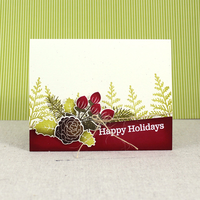 Happy Holidays Geenery Card