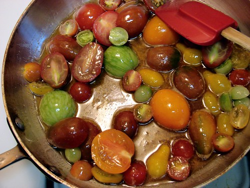 baby heirloom tomatoes in brown butter | by Jenblossom