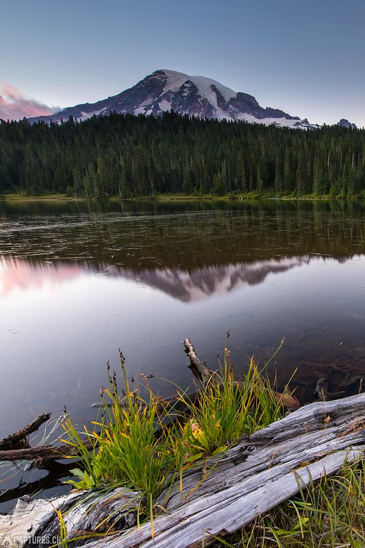 Reflection lake view - Mount Rainier National Park
