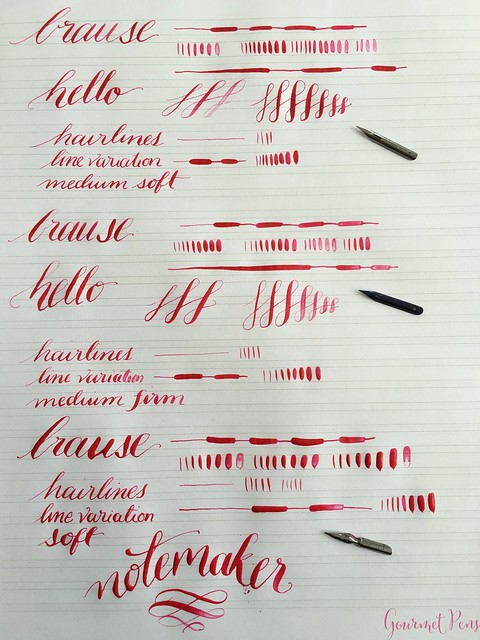 Review Brause Dip Pen Set - A Starter Dip Nib Set for Calligraphy @NoteMakerTweets  14
