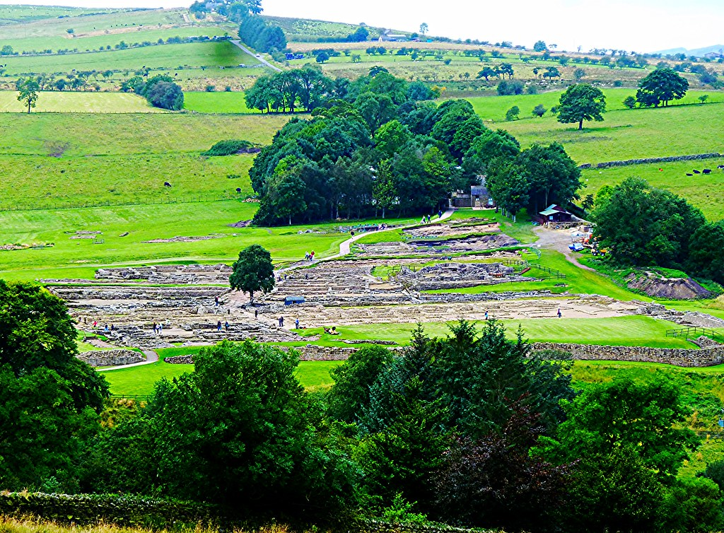 Landscape view of Vindolanda Roman Site.
