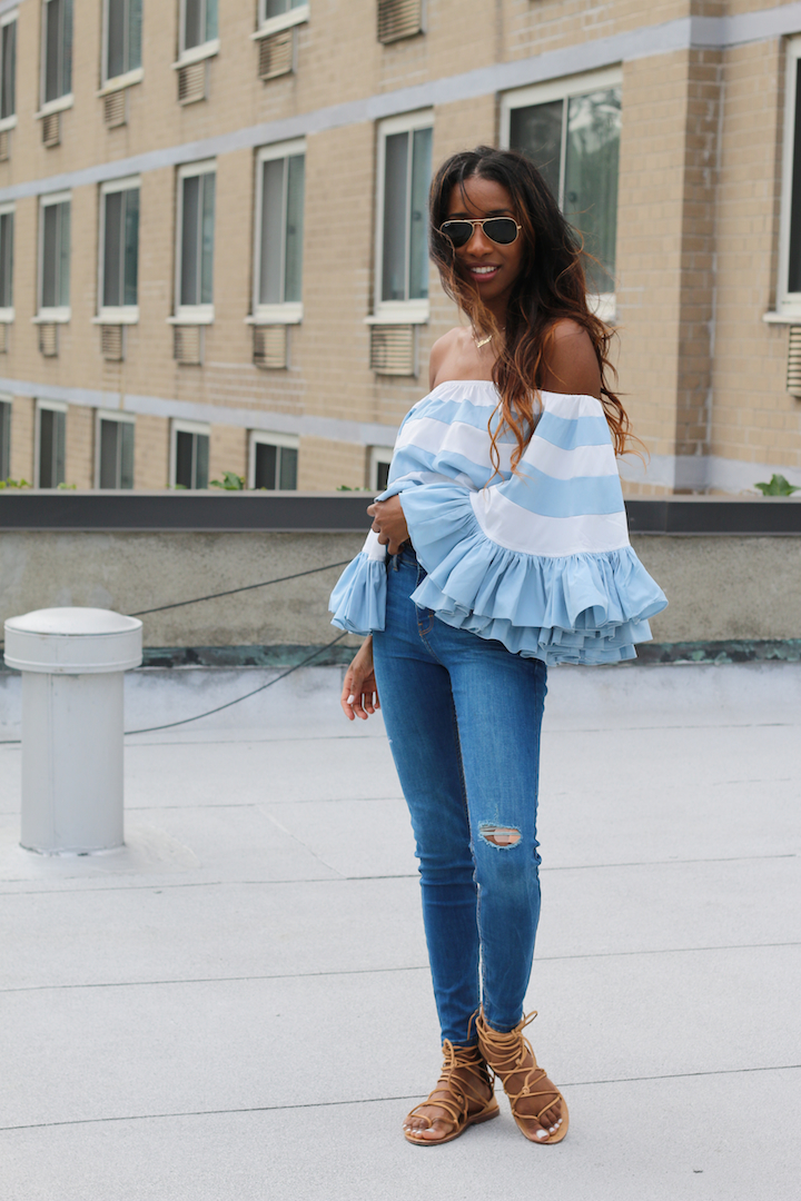 Off The Shoulder Top with Ruffles