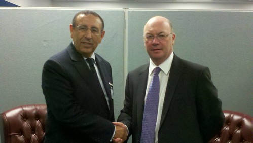 UK Minister Alistair Burt meets with Moroccan Deputy Foreign Minister Youssef Amrani at the UN General Assembly | by UKUnitedNations
