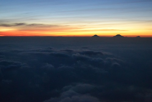 View from the peak of Mount Slamet
