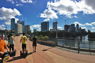 Austin - Segway tour bridge