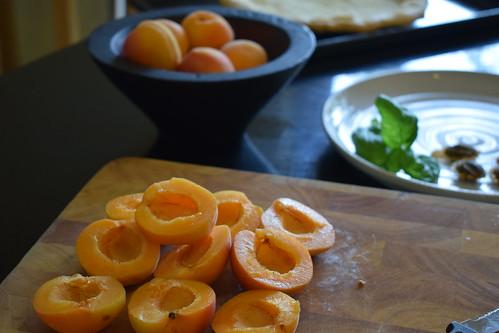 Apricot & Basil Frangipane Tart